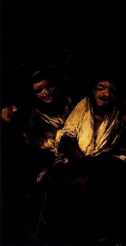 due donne che ridono a gola piena_goya
