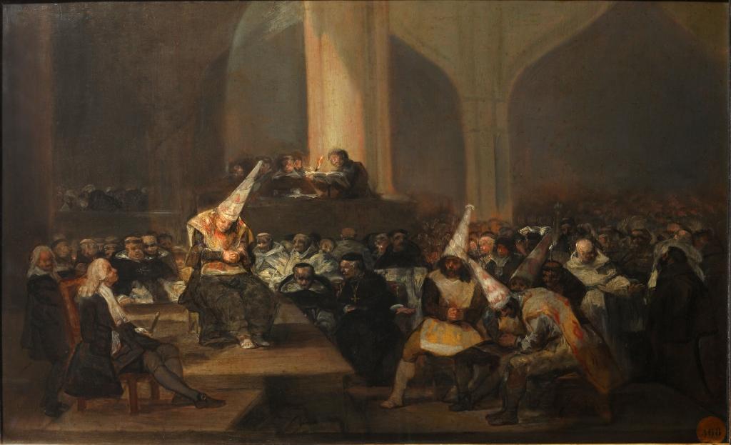 La scena dell'Inquisizione 1814 goya